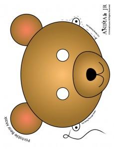 Brown Bear Mask to Print