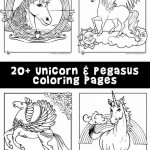 Unicorn & Pegasus Coloring Pages
