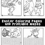 Easter Coloring Pages and Printable Mazes