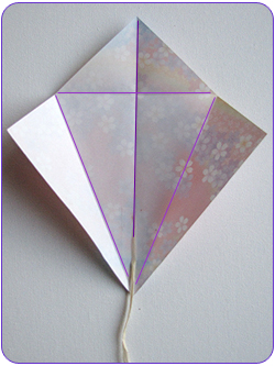 Easy Origami Kite Step 1