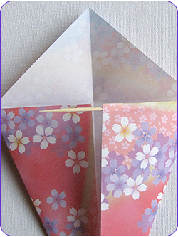 Easy Origami Kites Step 2