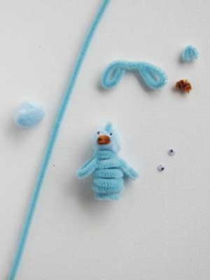 Spring Bluebird Finger Puppet
