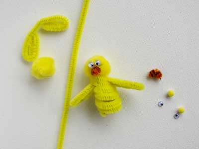 Easter Chick Finger Puppet
