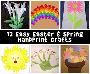 Easy Easter and Spring Handprint Crafts