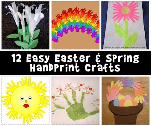 12 Easy Easter and Spring Handprint Crafts for Kids
