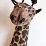 Recycled Crafts: Giraffe Sock Puppet