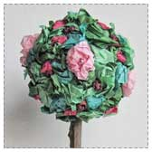 Paper Flower Topiary Craft