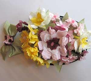 Tissue Paper Flower Arrangement