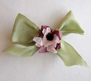 Pillbox Hat Bow with Flower