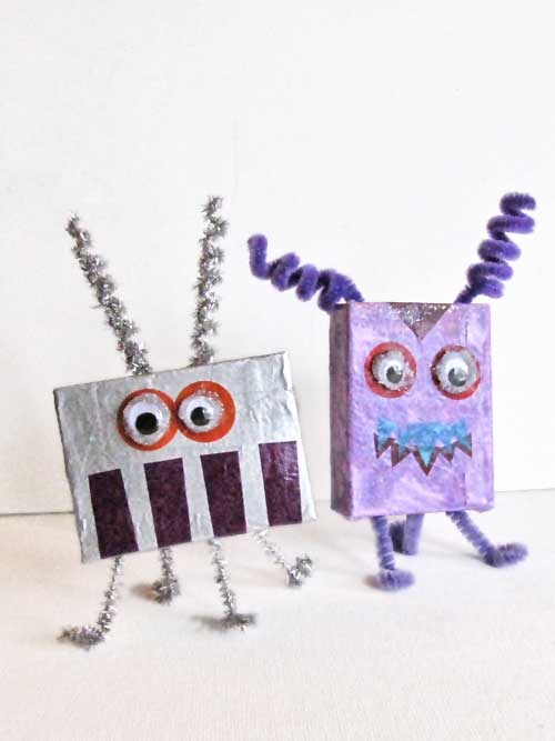 Recycled Cardboard Box Aliens and Monsters