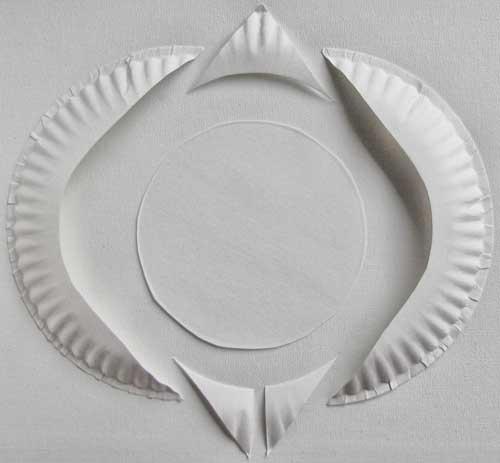 Paper plate penguin template