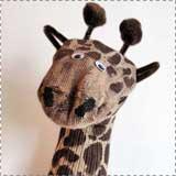 Giraffe Sock Puppets