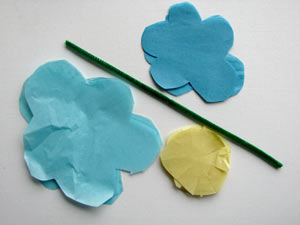 Tissue Paper Flowers Step 1