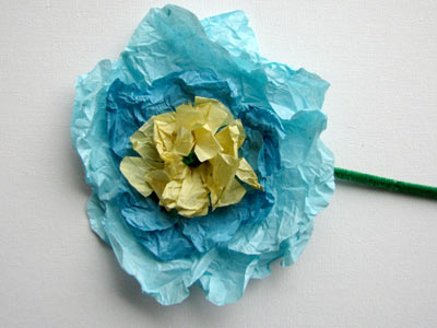 Photo of Finished Tissue Paper Flowers