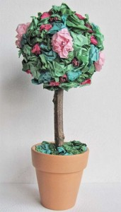 Tissue Paper Flower Topiary