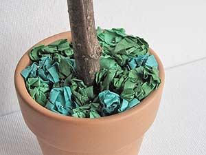 Tissue Paper Flower Topiary Base