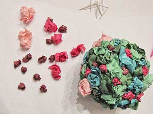 Tissue Paper Flower Topiary - Add Flowers