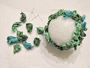 Tissue Paper Flower Topiary Ball