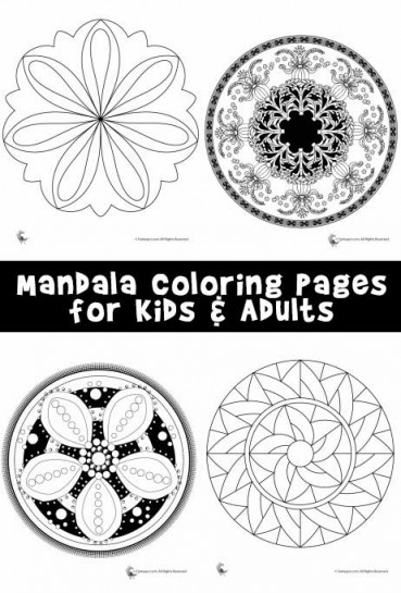 Mandala Coloring Pages for Kids & Adults
