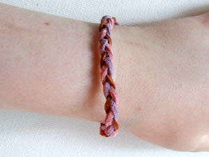 Easy Braided Leather Friendship Bracelet