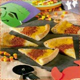 Candy Corn Pizza Halloween Recipe
