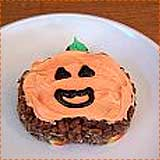 Chocolate Jack o' Lantern Rice Krispie Treats