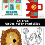 Circus Party Printables and Circus Crafts