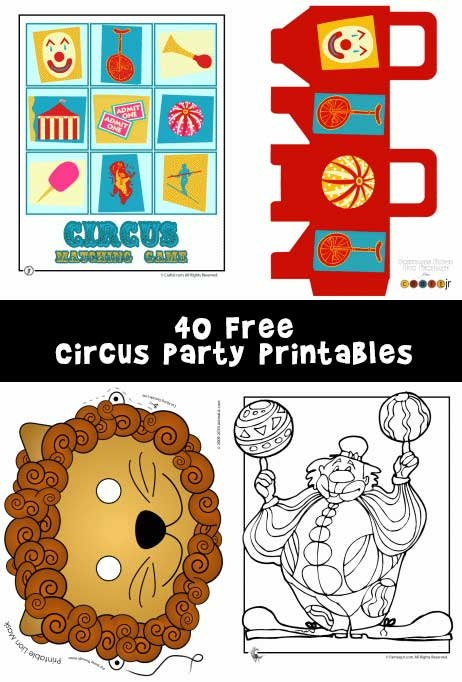 Free Worksheets free printable st patrick day worksheets : Circus Party Printables and Circus Crafts - Woo! Jr. Kids ...