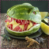 Dinosaur Watermelon Carving