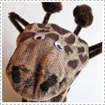Recycle a Sock into a Giraffe Sock Puppet