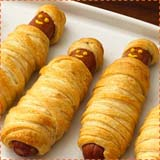 Halloween Hot Dog Mummies