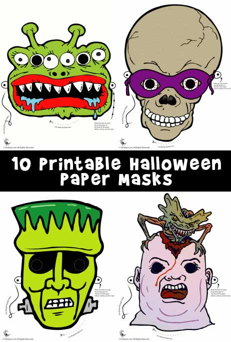 image regarding Printable Halloween Paper identified as Printable Halloween Masks Woo! Jr. Young children Functions