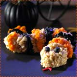 Halloween Snake Rice Krispie Treats