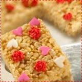 Rice Krispie Treats with Valentine Sprinkles