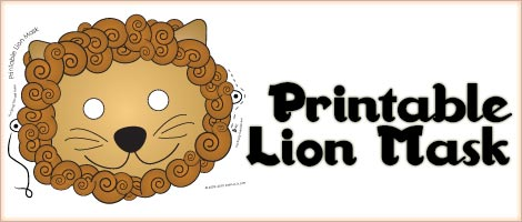 Printable animal masks lion mask woo jr kids activities for Lion mask coloring page