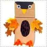 paper bag owl 1 Paper Bag Crafts for Halloween