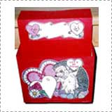 Construction Paper Hedgehog Valentine Mailbox