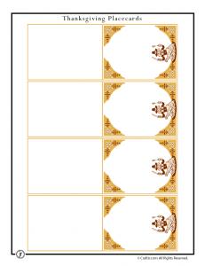 Retro Thanksgiving Placecards - Portrait