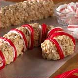 Rice Krispie Candy Canes