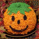Large Pumpkin Rice Krispie Treat