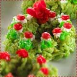Rice Krispie Christmas Wreaths