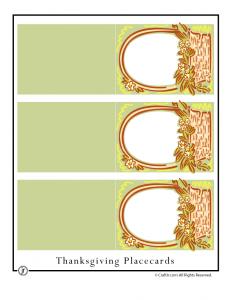 Thanksgiving Basket Placecards - Portrait