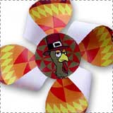 Printable Thanksgiving Pinwheel Craft