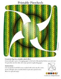 Camouflage Pinwheel