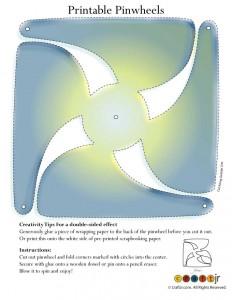 Pastel Sunburst Pinwheel