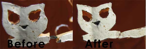 Attaching Broken Pumpkin Pieces
