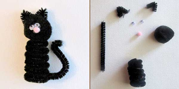 Halloween Black Cat Finger Puppet Craft