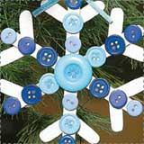 Cute Button Snowflake Ornament