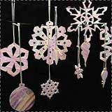 Polymer Clay Snowflake Ornaments