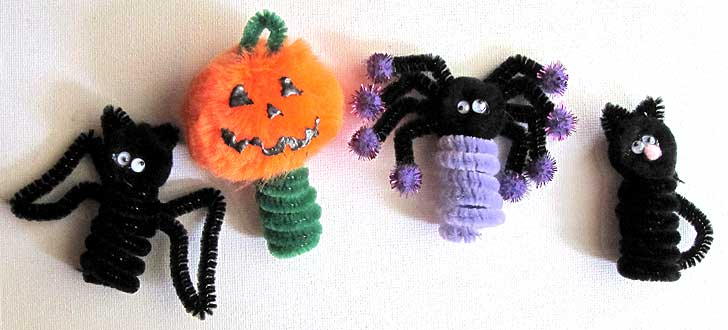 Halloween Kids Crafts Finger Puppets
